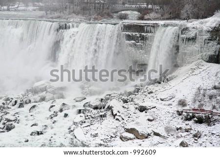 Niagara Falls Frozen - stock photo