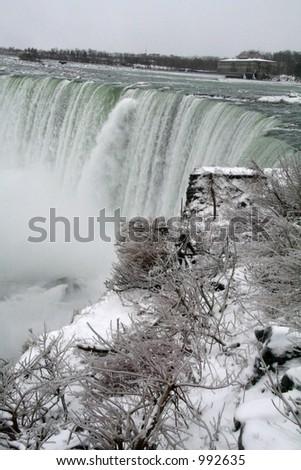 Niagara Falls Frozen Trees - stock photo