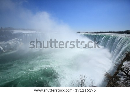 Niagara Falls in the spring