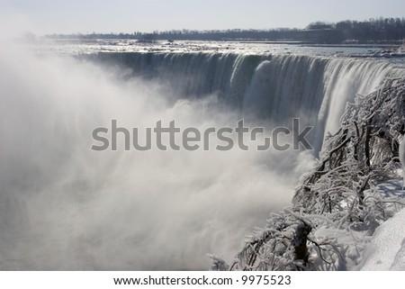 Niagara Falls in the winter. - stock photo