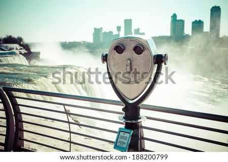 Niagara Falls in winter.  - stock photo