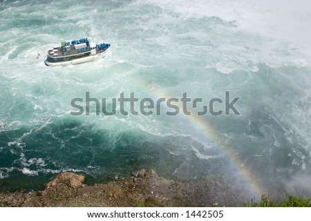 Niagara Falls, maid mist, Early Summer - stock photo