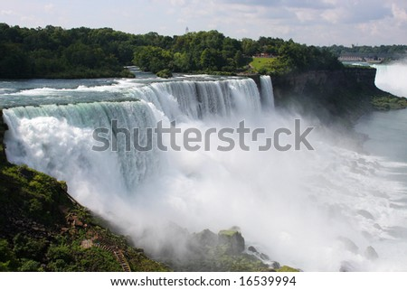 Niagara Falls on the United States of America border