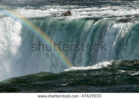 Niagara Falls rainbow - stock photo