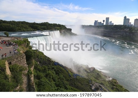 Niagara Falls's Cave of the Winds, USA - stock photo