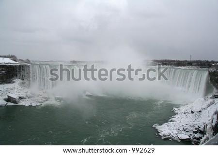 Niagara Falls Wide View - stock photo