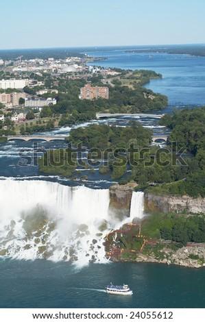 Niagara river - stock photo
