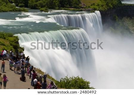 Niagara Tourists - stock photo