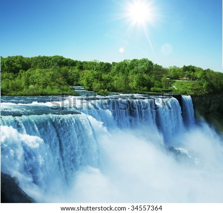 Niagara waterfall - stock photo