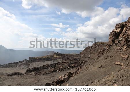 nicaragua/granada/volcano - stock photo