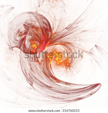 Nice abstract fractal shapes on white background - stock photo