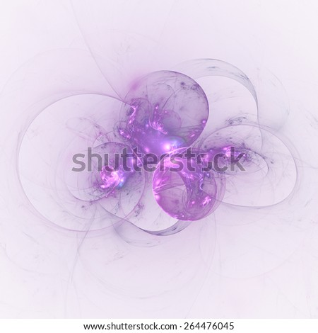 Nice abstract fractal wallpaper on white background  - stock photo