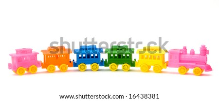 Nice and Colorful Train - stock photo
