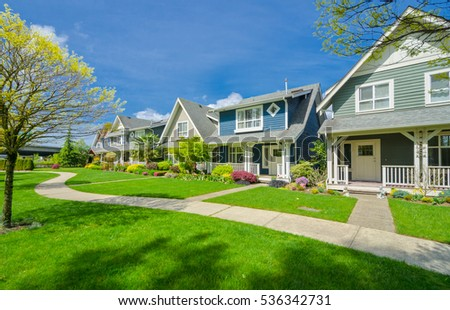 Neighborhood stock images royalty free images vectors for Nice houses in canada