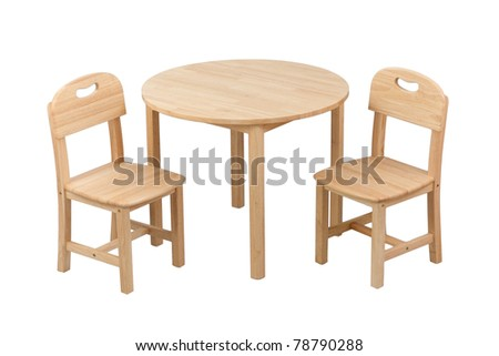 Nice and comfortable wooden kids chair and table set