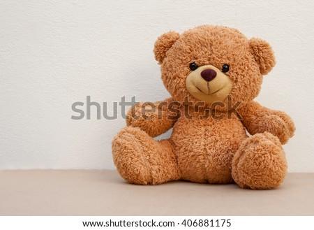 Nice and cute teddy bear  - stock photo