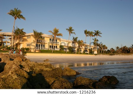 Nice Apartment Building On The Beach