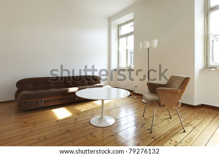 nice apartment refitted, retro style living-room