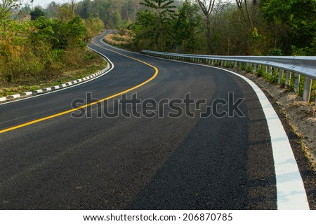 Nice asphalt road - stock photo