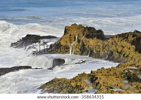nice atlantic coast in Essaouira in Morocco  - stock photo