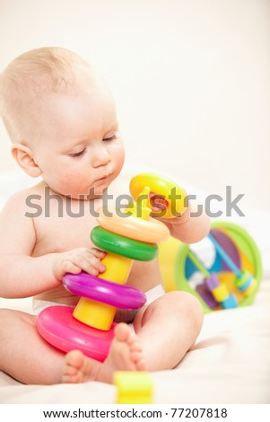 nice baby - stock photo