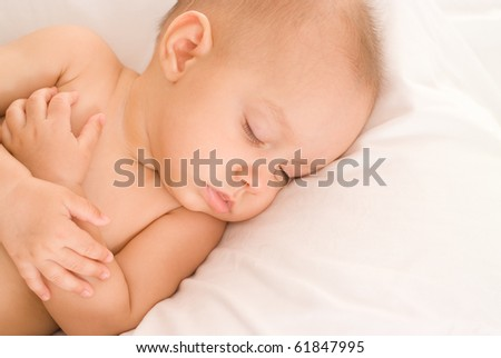 nice baby on a white background