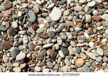 Nice background image of pebbles on a beach - stock photo