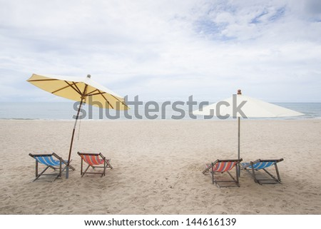 Nice Beach for a relax on a beach chairs and umbrellas