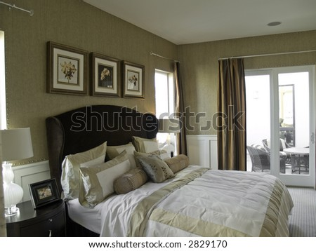 Nice bedroom - stock photo