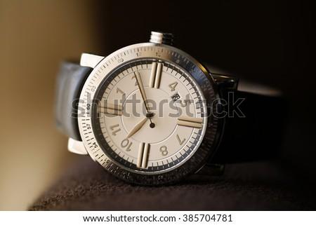 Nice black men clock close up  - stock photo