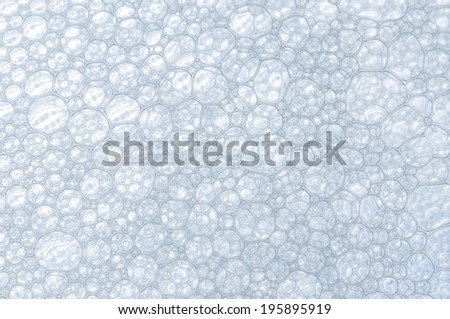Nice blue bubbles pattern in a macro photo - stock photo