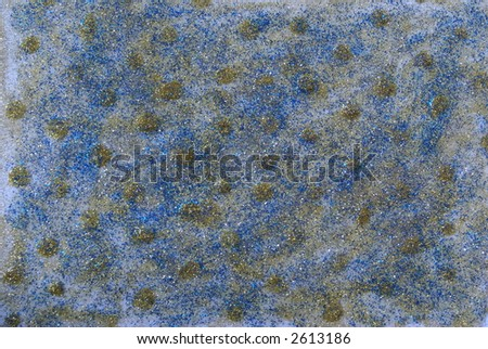 Nice blue dotted abstract background. Different bright colors and glitter. - stock photo