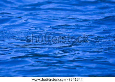 Nice blue water texture close up photo - stock photo