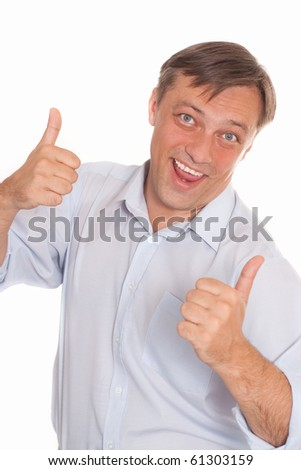 nice business man on a white background - stock photo