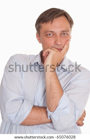 nice businessman on a white background - stock photo