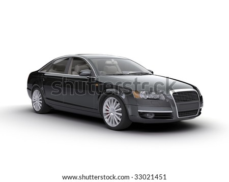 nice car on the white - stock photo