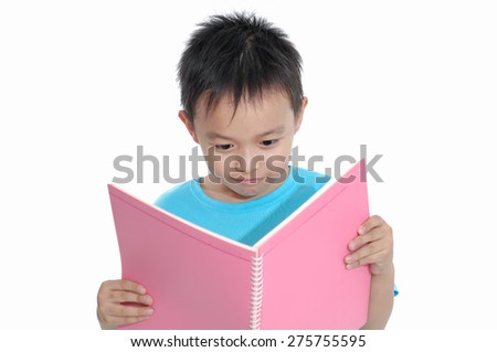 Nice child holding a notebook