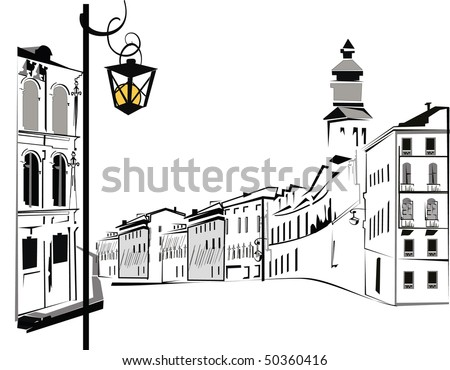 Nice city - stock photo