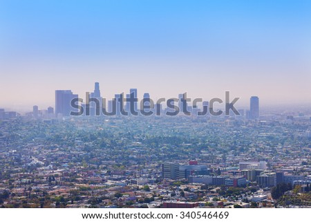 Nice city view of LA from Griffith Observatory