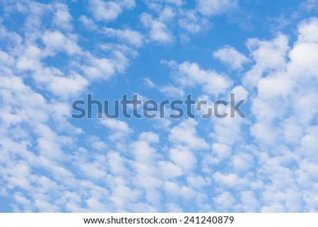 nice cloud with blue sky - stock photo