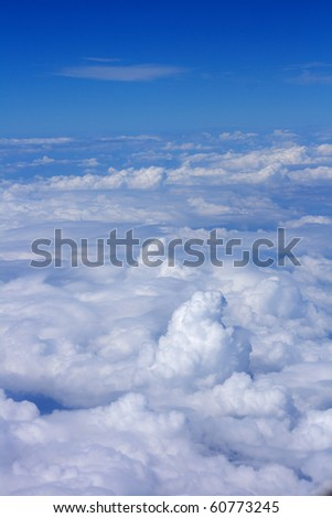 nice clouds background - stock photo