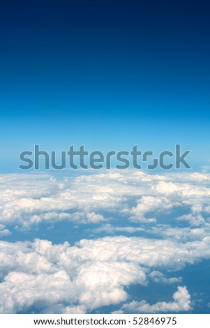 nice clouds background between Africa and Europe - stock photo