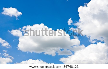 nice clouds in blue sky - stock photo