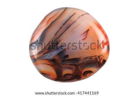 nice color agate isolated on the white background