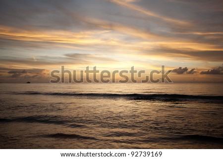 nice colors of sky then the sun was set. - stock photo