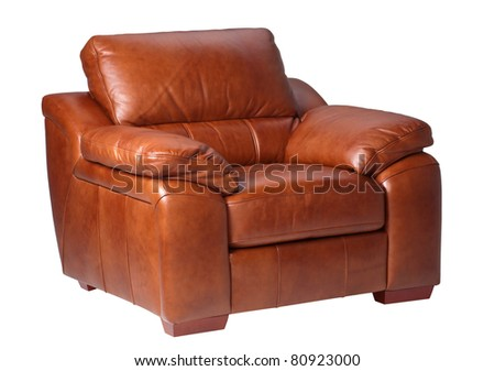 Nice  comfortable and luxury design of leather armchair - stock photo