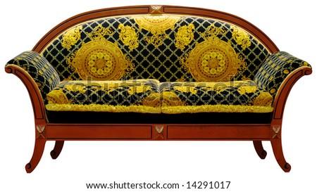 nice comfortable sofa over white - stock photo