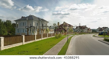 Nice cottage in the suburbs - stock photo