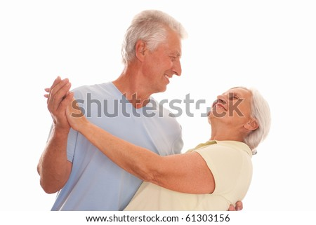 nice couple dancing on a white background