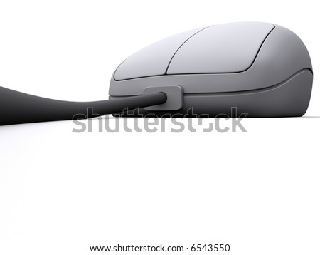 nice 3d mouse - stock photo